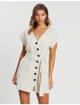 Iconic Exclusive   Azulki Linen Blend Button Dress by Atmos&Here