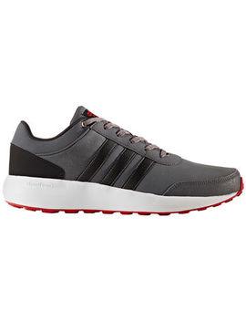 Adidas Men's Cloudfoam Race Running Shoes, Grey/Black/Scarlet by Adidas Men's Cloudfoam Race Running Shoes, Grey/Black/Scarlet
