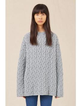 Cashmere Braided Oversized Crewneck by Mansur Gavriel
