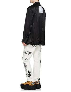 Satin Oversized Inside Out Two Button Sportcoat by Vetements
