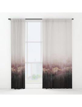 Pink Sky Window Curtains by