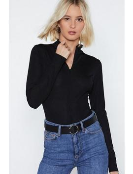 High Standards Zip Bodysuit by Nasty Gal