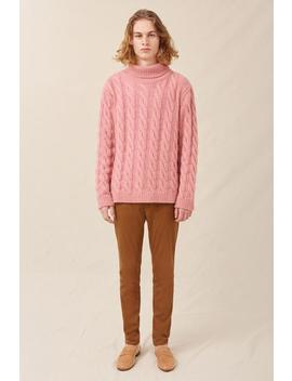 Men's Cashmere Cable Knit Turtleneck by Mansur Gavriel