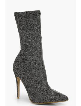 Pointed Toe Stiletto Heel Sock Boots by Boohoo