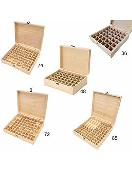 Essential Oils Wooden Storage Box Oil Bottles Aromatherapy Organizer Carry Organizer Essential Wooden Storage Aromatherapy Oil Container Lock Jewelry Treasure Case Home Storage And Organiza (36 Hole) by Roossys