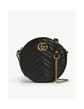 Marmont Round Leather Quilted Camera Bag by Gucci