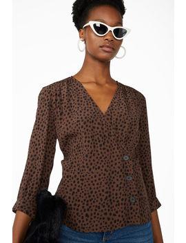 Leopard Blouse by Monki