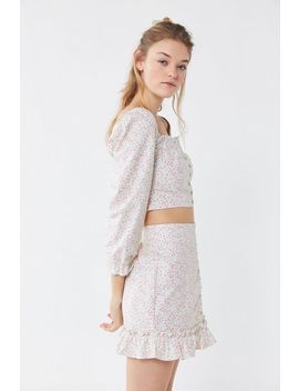 Uo Love Struck Floral Hook + Eye Mini Skirt by Urban Outfitters