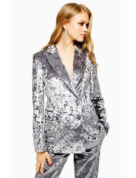 Bonded Velvet Suit by Topshop