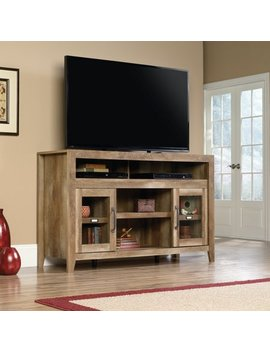 "Sauder Stone Valley Entertainment Credenza For T Vs Up To 60"", Pioneer Oak Finish by Sauder"