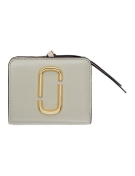 Grey Mini Snapshot Compact Wallet by Marc Jacobs