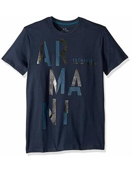 A|X Armani Exchange Men's Short Sleeve Staggered Graphic T Shirt by A7 Cx+Armani+Exchange