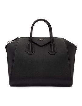 Women's Black Medium Antigona Bag by Givenchy
