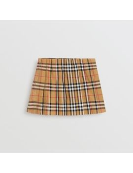 Vintage Check Pleated Skirt by Burberry