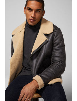 Double Sided Faux Leather Perfect Jacket by Springfield