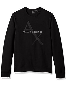 A|X Armani Exchange Men's Soft Stretch Logo Sweatshirt by A7 Cx+Armani+Exchange