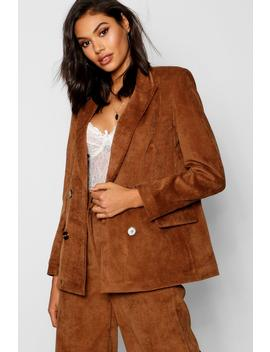 Baby Cord Double Breasted Jacket by Boohoo