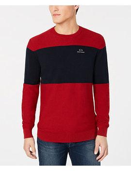  X Armani Exchange Men's Colorblocked Sweater by A X Armani Exchange
