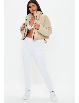 White Basic Joggers by Missguided