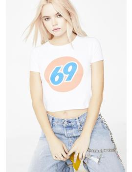 69 Gas Station Crop Tee by Mary Jane Nite