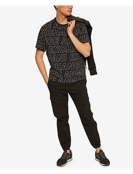  X Armani Exchange Men's Allover Logo Print T Shirt by A X Armani Exchange