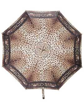 Leopard Print Umbrella by Moschino
