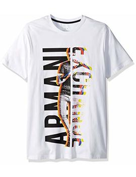A|X Armani Exchange Men's In Person Sideways Logo Tee by A7 Cx+Armani+Exchange