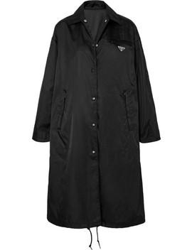 Manteau à Capuche En Tissu Technique by Prada