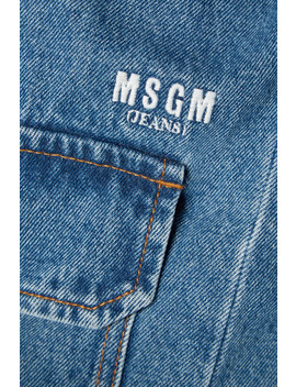 Trench Coat Oversize En Jean by Msgm