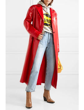 Trench Coat En Cuir Synthétique Glacé by Msgm