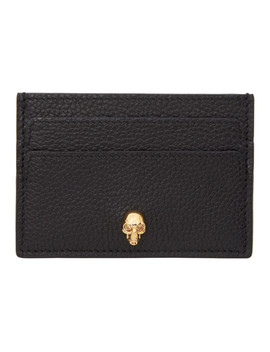 Black & Gold Skull Card Holder by Alexander Mcqueen