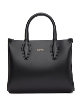 Black Mini Shopper Tote by Lanvin