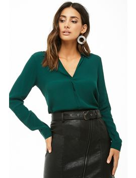 Split Neck Top by Forever 21