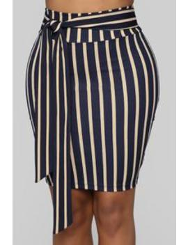 Once Again Skirt   Navy by Fashion Nova