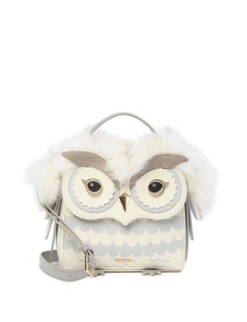 Starbright Owl Leather & Faux Fur Top Handle Satchel by Kate Spade New York