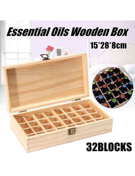 32 Slots Wooden Box Organizer Essential Oil Aromatherapy Container Case New by Unbranded/Generic