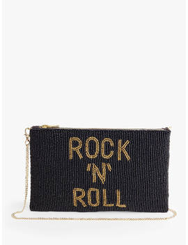 Hush Rock 'n' Roll Embellished Clutch, Black/Gold by Hush