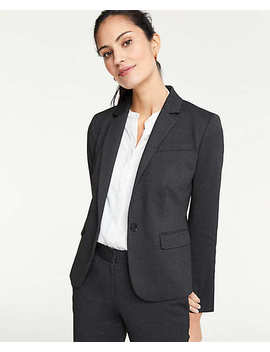 Pindot One Button Blazer by Ann Taylor