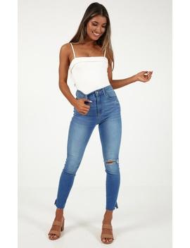 Aubrey Skinny Jeans In Mid Wash by Showpo Fashion