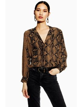 Tall Snake Print Shirt by Topshop