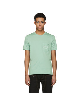 Green 'atelier' Pocket T Shirt by Maison Margiela