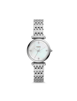 Carlie Mini Three Hand Stainless Steel Watch by Fossil