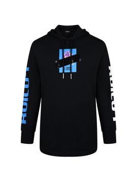 T Fonty X Hooded Long Sleeve Hooded Sweatshirt by Diesel