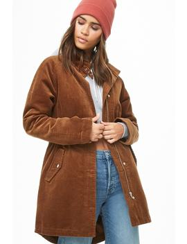Longline Corduroy Jacket by Forever 21