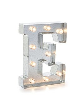 "Darice 5915 706 Silver Metal Marquee Letter 9.875"" E by Darice"