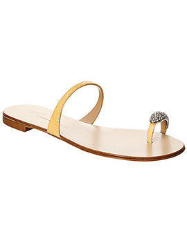 Giuseppe Zanotti Nuvo Rock Jeweled Toe Ring Leather Sandal by Giuseppe Zanotti