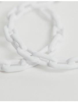 Asos Design – Vita örhängen I Kedjedesign by Asos