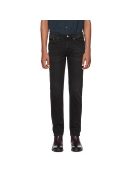 Black Tapered Jeans by Ps By Paul Smith