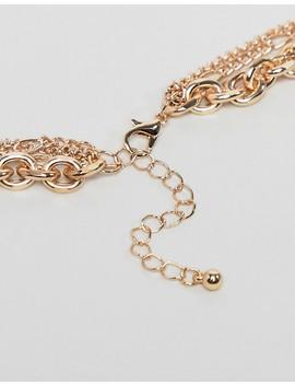 Asos Design – Guldfärgat Halsband I Flera Rader Med S:T Kristoffer Och Religiösa Ikoner I Vintagestil by Asos