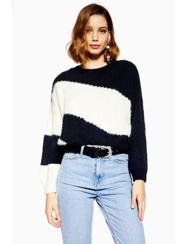 Easy Block Stripe Jumper by Topshop
